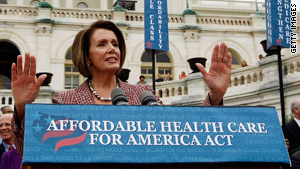 House Speaker Nancy Pelosi has been pushing for a more robust public health care option.