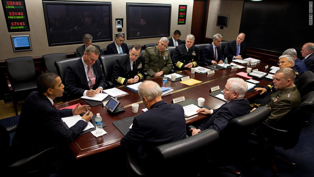 President Obama meets on Afghanistan with the Joint Chiefs of Staff in the Situation Room at the White House on Friday.