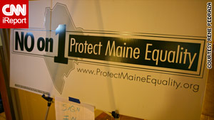 Supporters of the law had hoped Maine would become the first state to approve same-sex marriage with a popular vote.