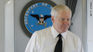 Secretary of Defense Robert Gates is expected to make an announcement of a major military review.