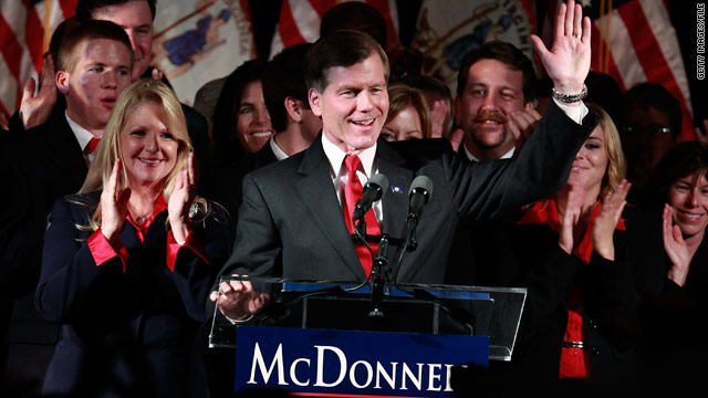 Republican Bob McDonnell celebrates his win as Virginia governor this month. The GOP hopes for a repeat in next year's races.