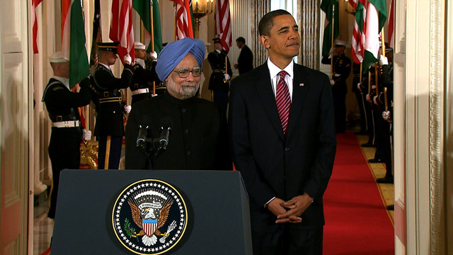 President Obama welcomes Indian Prime Minister Manmohan Singh on a state visit Tuesday at the White House.