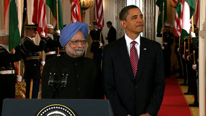 President Obama welcomed Indian Prime Minister Manmohan Singh on a state last Tuesday at the White House.