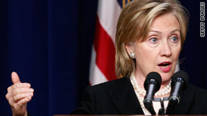 Hillary Clinton has been involved in intense diplomacy in the run-up to the president's speech, the State Department says.