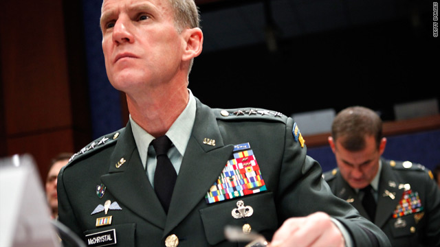 "Gen. Stanley McChrystal said the next 18 months will be ""critical,"" but he is confident of success in Afghanistan."
