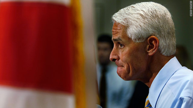 Charlie Crist, Florida's popular first-term governor, faces conservative opposition in next year's GOP Senate primary.
