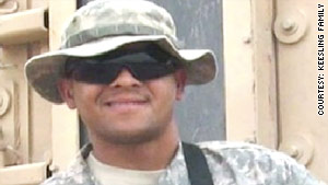A photo of 25-year-old Army Spc. Chancellor Keesling, who shot and killed himself in Iraq.