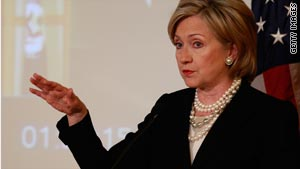 "Secretary of State Hillary Clinton said she was ""well aware"" of Iran's interest in promoting itself."