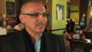 Andy Shallal's bookstore cafe has earned $14 million a year, yet he can't get a loan to expand.