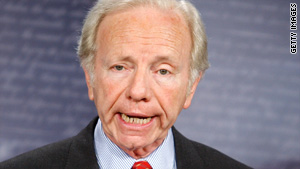 Sen. Joseph Lieberman says lowering the Medicare entry age to 55 would be too expensive.