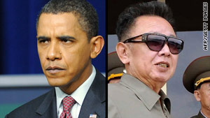 President Obama, left,  sent a personal letter to North Korean leader Kim Jong Il, a U.S. official says.