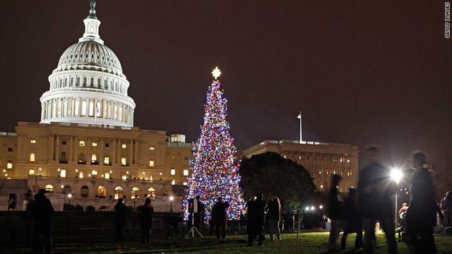 A Christmas tree shines at the Capitol. While some feel the need to defend Christmas, others say there's no war against it.
