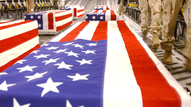 The U.S. military provides the same funeral services to troops regardless of whether they died in battle or committed suicide.