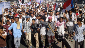 Yemenis protest last week against a government raid that targeted suspected al Qaeda members.