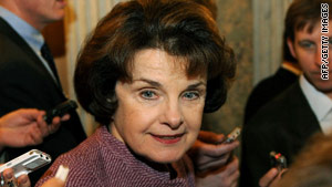 "Sen. Dianne Feinstein called the current standard ""too restrictive"" and urged that it be changed."