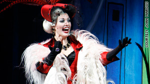 Rachel York stars in the show as the evil Cruella De Vil.