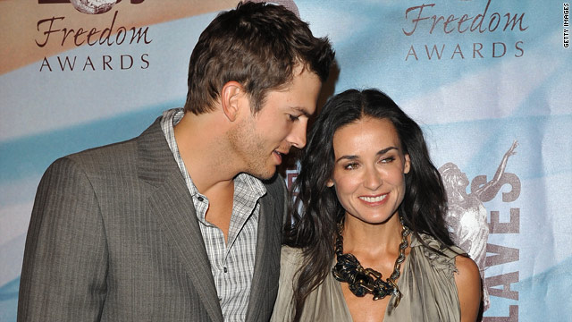 Ashton Kutcher and Demi Moore picked up gifts for their family in Hollywood.