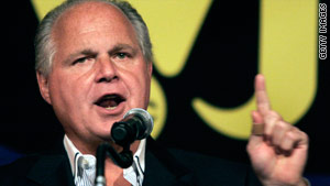 Conservative talk show host Rush Limbaugh is resting comfortably after chest pains, a staffer says.
