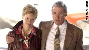 "Hilary Swank plays Amelia Earhart, and Richard Gere her husband George Putnam, in ""Amelia."""