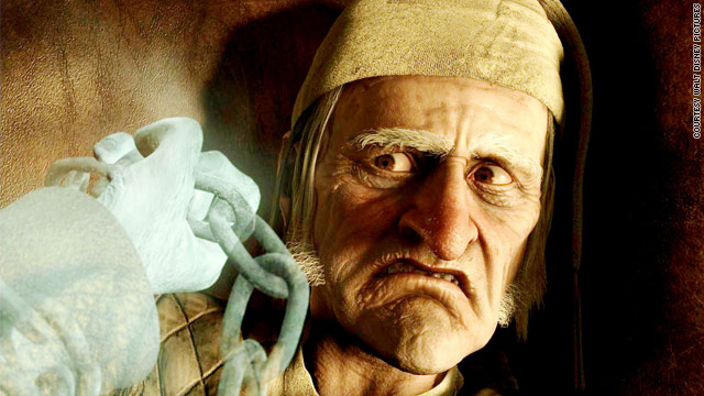 "Jim Carrey is Ebenezer Scrooge, and several others, in ""Disney's A Christmas Carol."""
