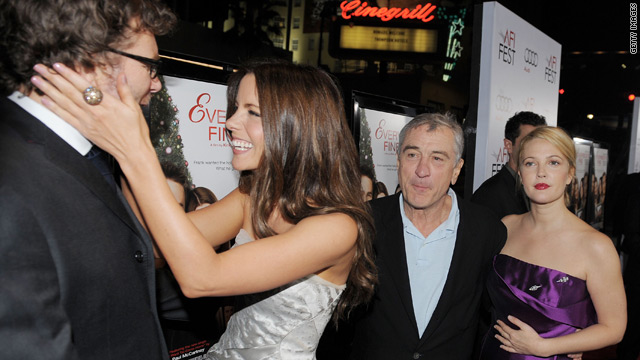 """Everybody's Fine"" writer-director Kirk Jones with stars Kate Beckinsale, Robert DeNiro and Drew Barrymore."