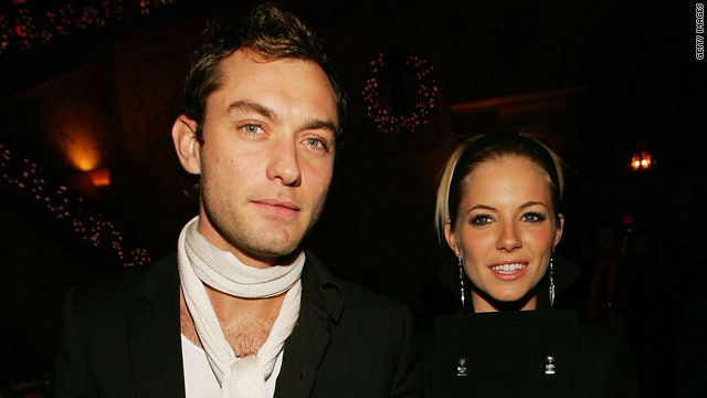 Jude Law and Sienna Miller were seen having a romantic dinner together late Thursday night in New York City.