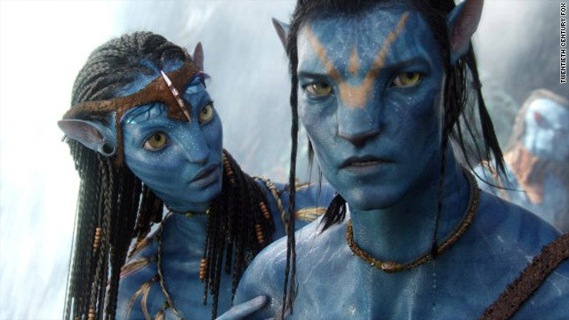 "Two avatars from the hotly-anticipated new sci-fi 3D epic, ""Avatar."""