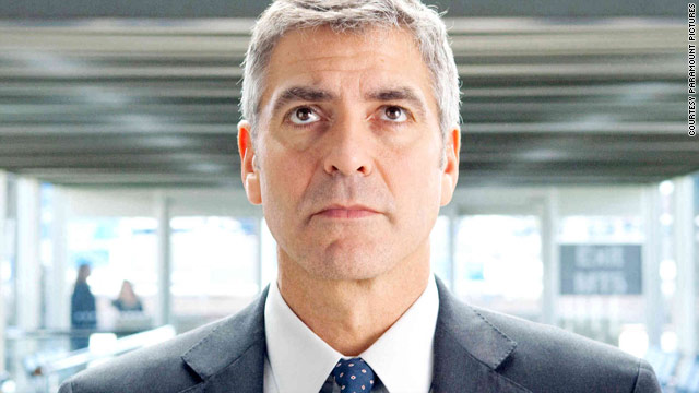 "George Clooney shows off his acting chops in ""Up in the Air."""