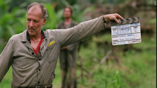 "German director Werner Herzog on the set of his film, ""Rescue Dawn""."