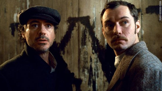 "Robert Downey Jr. as Sherlock Holmes and Jude Law as his sidekick, Dr. Watson, in Guy Ritchie's new ""Sherlock Holmes"""