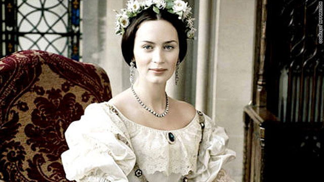 "Emily Blunt stars as a young queen in ""The Young Victoria."""