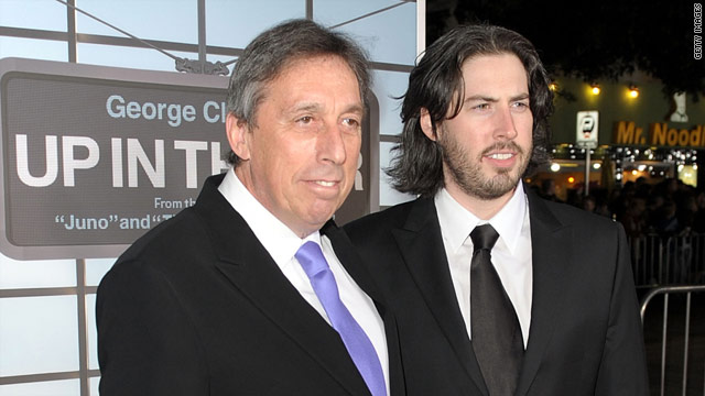 """In their first work project together,  Ivan and Jason Reitman are winning over critics with """"Up in the Air."""""""