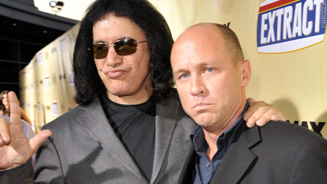 "Mike Judge, right, with ""Extract"" star Gene Simmons, finds clueless characters both funny and scary."