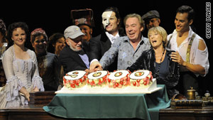 "In September, Lloyd Webber celebrated the 9,000th performance of ""The Phantom of the Opera."""