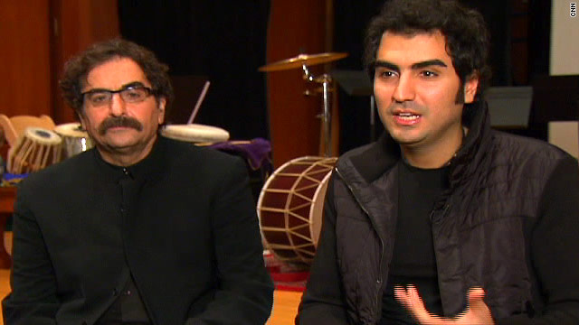 Shahrem Nazeri, left, and his son Hafez Nazeri hope their music shows Americans another side of Iranian culture.