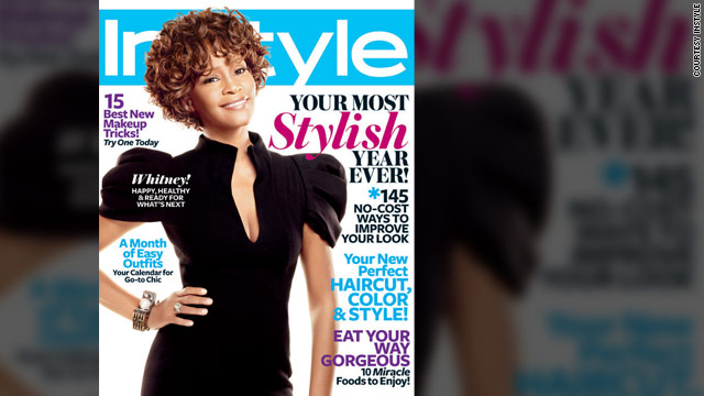 Whitney Houston graces the cover of the new issue of InStyle magazine.