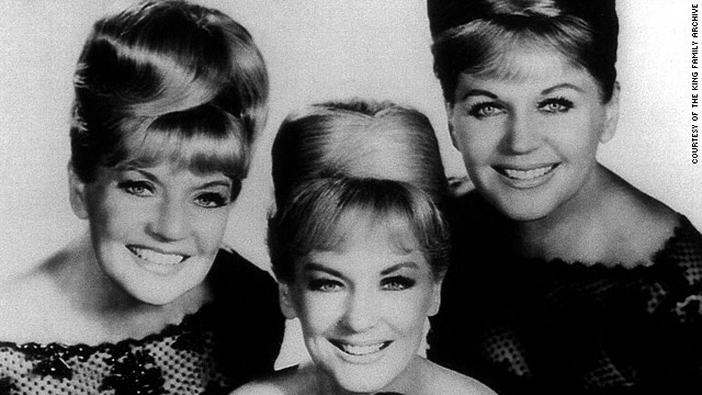 Yvonne King Burch is shown here circa 1965 in the center between sisters  Alyceas and Luise.