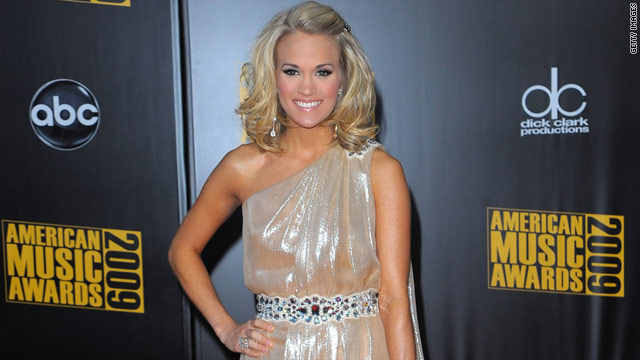 Singer Carrie Underwood is engaged to her hockey player boyfriend Mike Fisher, her spokesperson said.