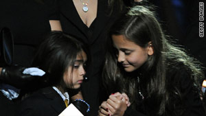 Before their father's death, Michael Jackson's children were not often seen in public.