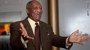 Comedian Bill Cosby received the Mark Twain Prize for American Humor on Monday.