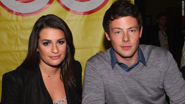 Although they are involved in a love quadrangle on the show, Glee stars Lea Michele and Cory Monteith saiy it is all an act.