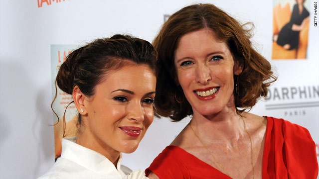"Alyssa Milano, left, is just one of the many celebrities who seek the help of ""intuitionist"" Laura Day."