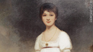 This work by British painter Ozias Humphry is the only known oil painting of Jane Austen, believed to be aged about 14.