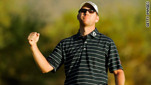 Matteson celebrates only his second PGA Tour victory after claiming the Frys.com Open.