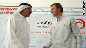 Alinghi hoped to defend the America's Cup in the gulf state of Ras al-Khamah.