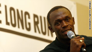 Sprint sensation Usain Bolt was speaking at the launch of a new sports charity in London.