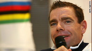 Evans finally got his hands on a world champion's rainbow jersey on the road  this season.