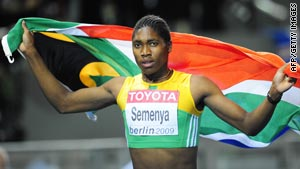 Caster Semenya stunned the athletics world when she came out of nowhere to win the 800m title in Berlin.