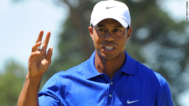 Tiger Woods is proving a class apart after moving three strokes clear of the Australian Masters field.