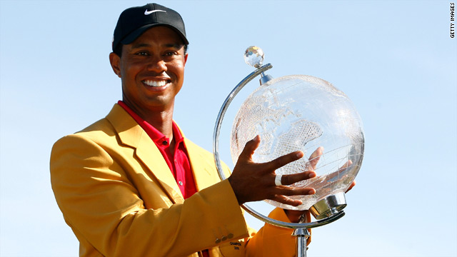 The world's best golfer Tiger Woods celebrated a successful return to Australia.